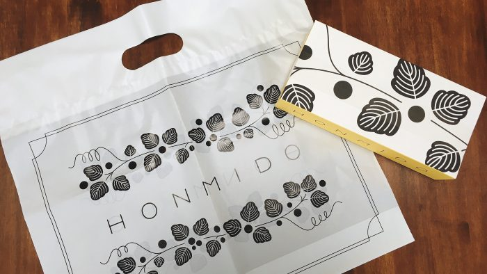 honmido銀座シックスのみたらしパンケーキパッケージ