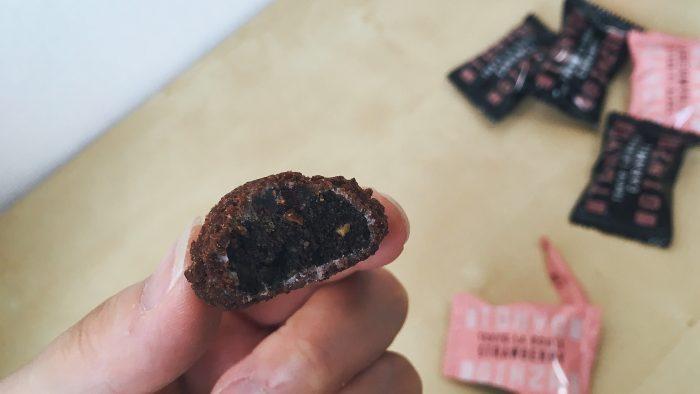 資生堂パーラーの東京ラ・ブールのストロベリー味の断面