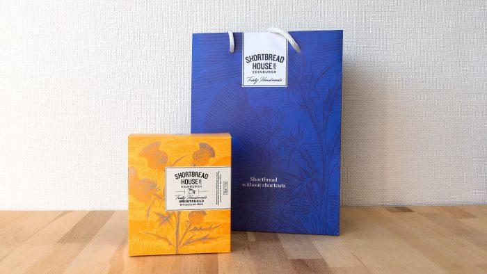 ショートブレッドハウス オブ エディンバラのパッケージデザインとショップ袋
