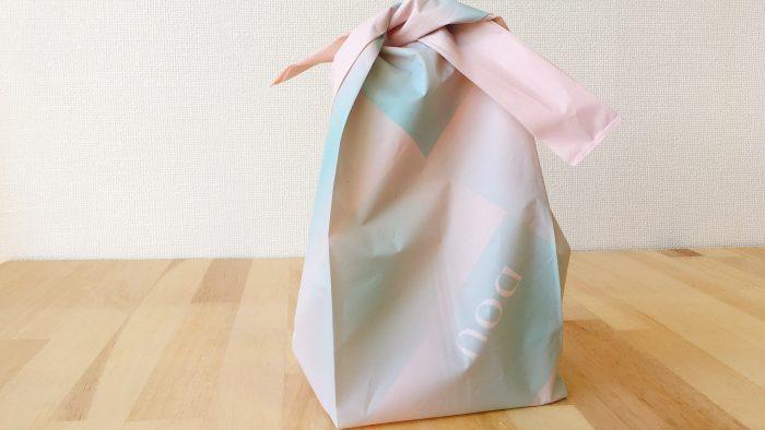 生どら焼きDOU(ドウ)の巾着のようなショップ袋