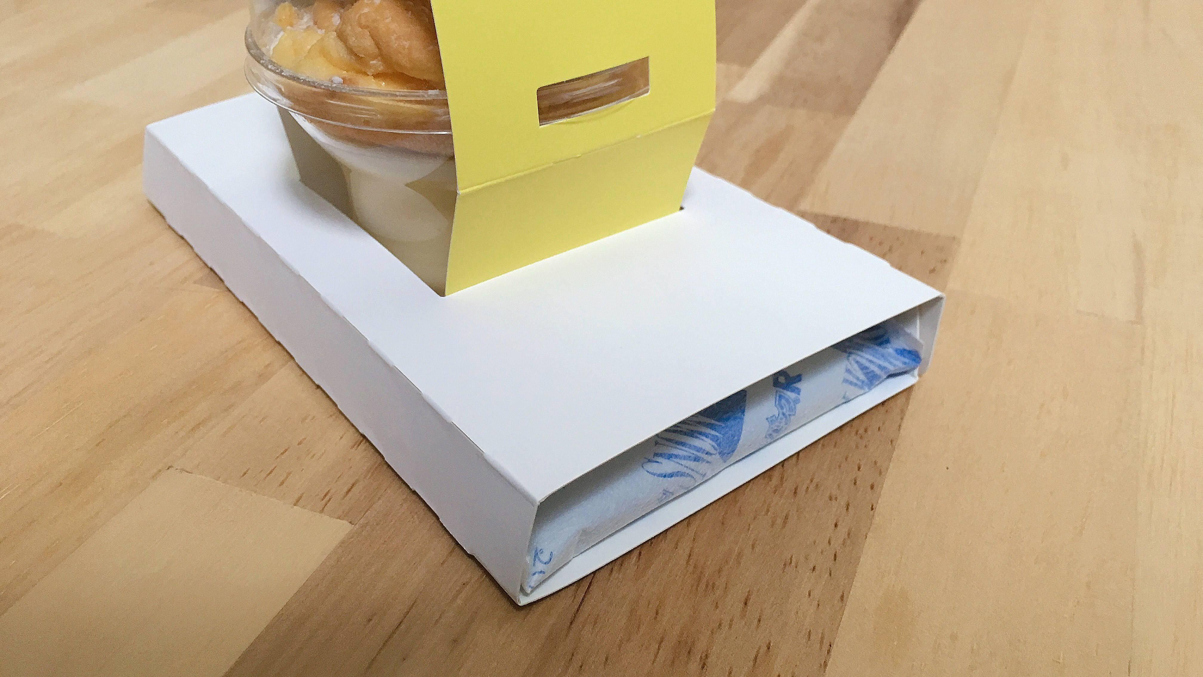 フリッパーズスタンドの奇跡のスフレパンケーキプリンのパッケージ