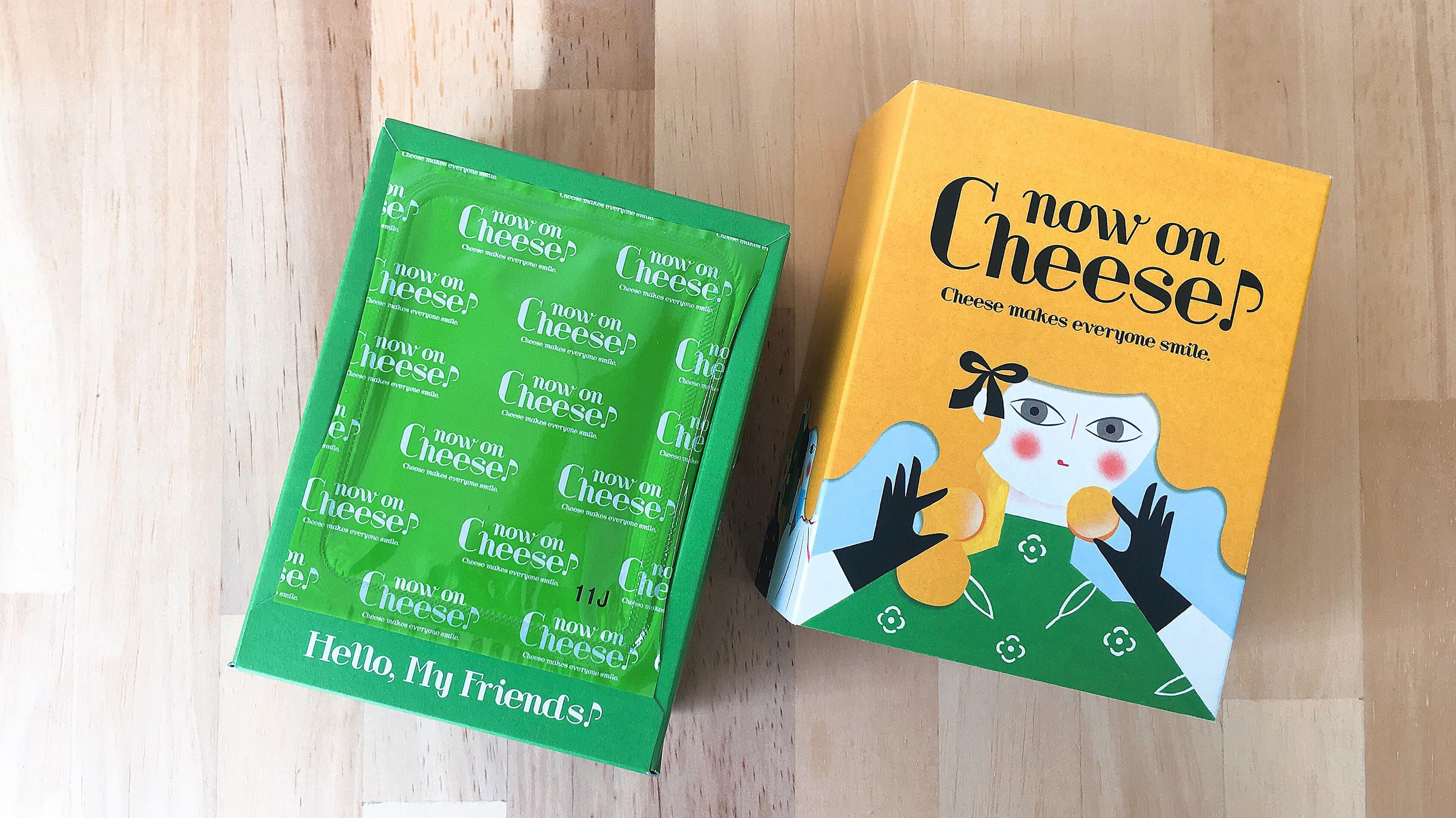 ルミネ新宿のチーズ菓子専門店ナウオンチーズのゴルゴンゾーラ&バジルクッキーのパッケージ