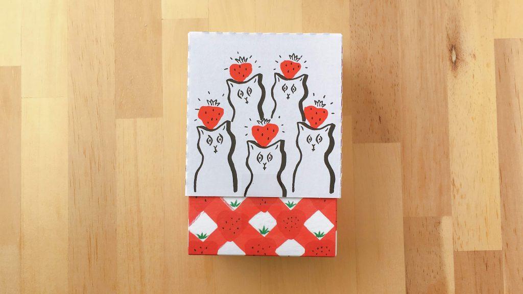 東京土産ベリーアップのいちごポルボローネの塩川いづみさんデザインのパッケージ