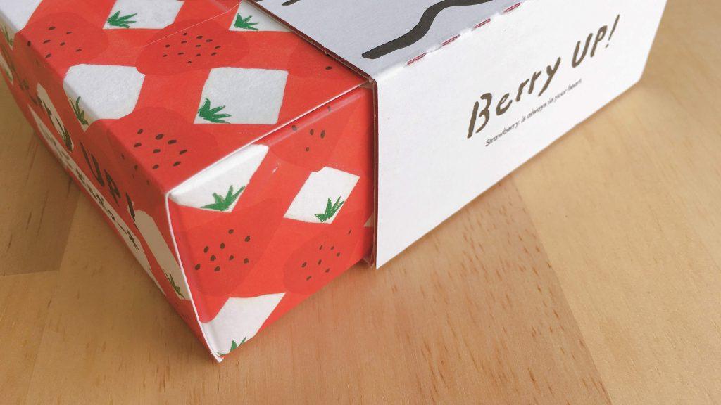 東京土産ベリーアップのいちごポルボローネパッケージ側面