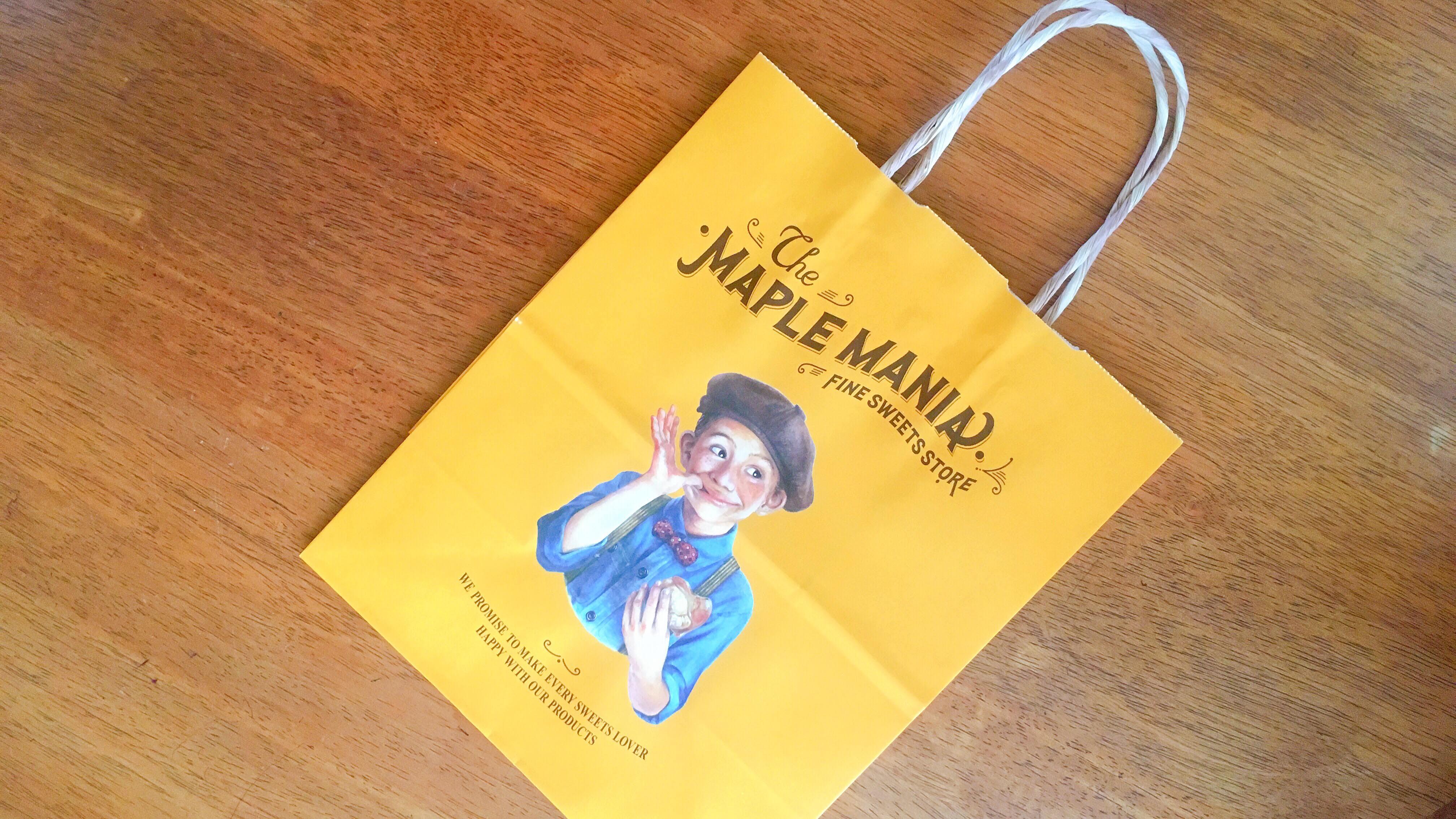 人気の東京土産メープルマニアのおしゃれな紙袋