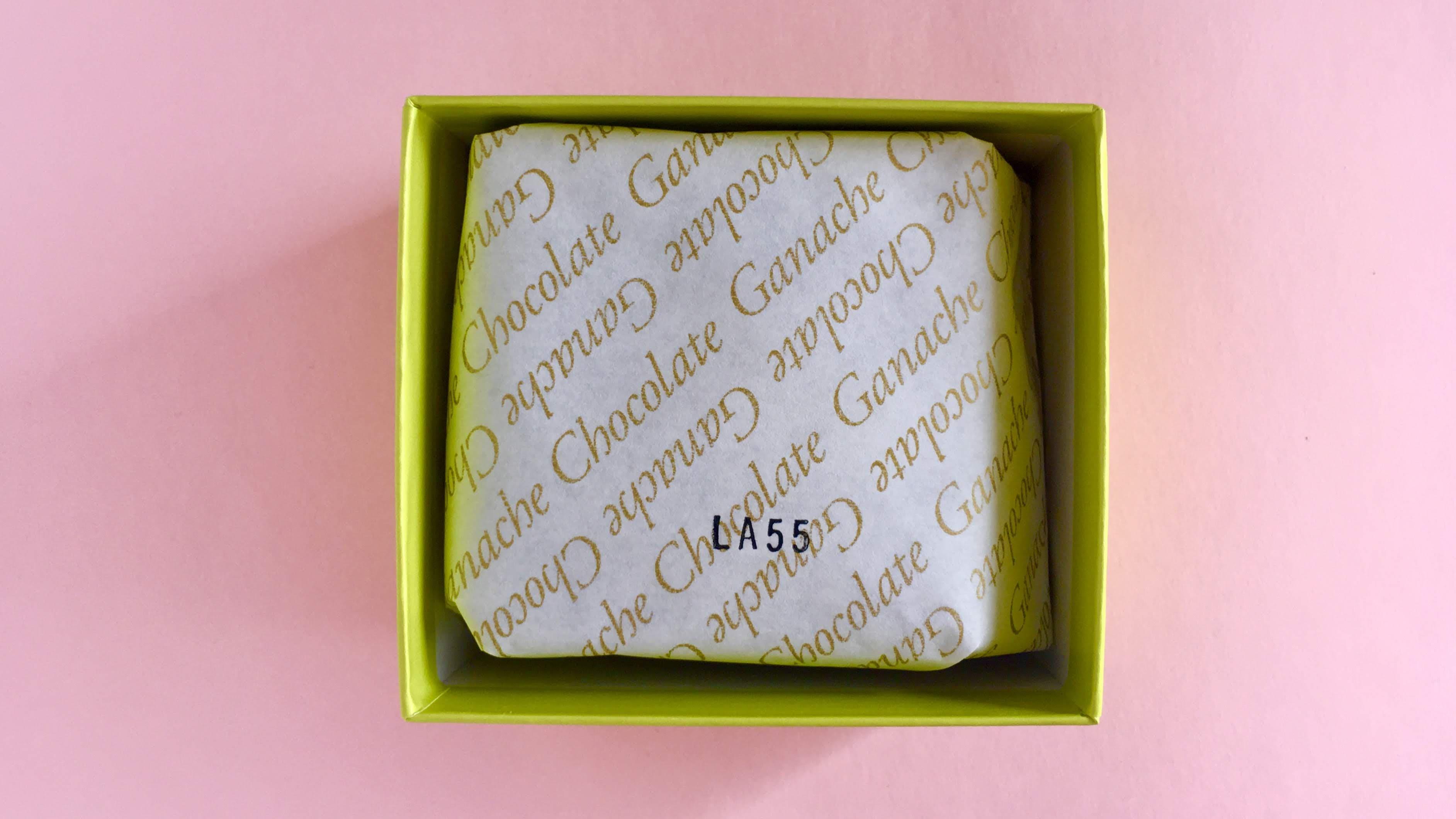 メリーズパーラーの袋の入った生チョコレート